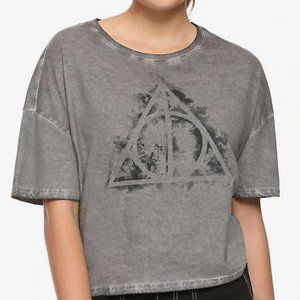 NWT Fantastic Beasts Deathly Hallows Crop Top